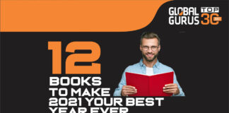 Infographic of Global Gurus 12 Books to make 2021 your Best Year Ever